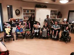 Jordin & PJ Sparks with the kids at Ryan House. JSE2015