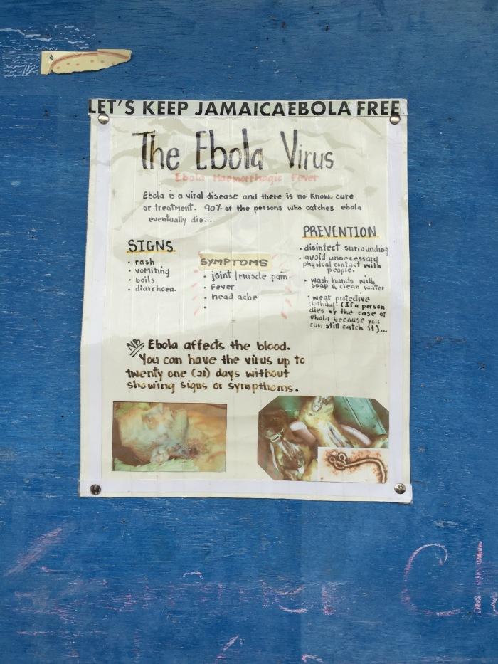 Ebola warning at school.