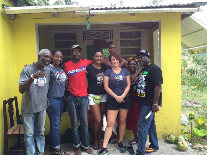 Jamaican family that took us in when we got a flat tire.