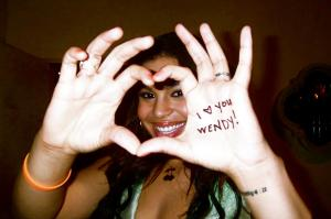 #orangeforwendy orange for wendy jordin heart hands